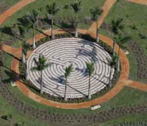 Chartres Labyrinth constructed of Concrete Pavers in Clermont Florida