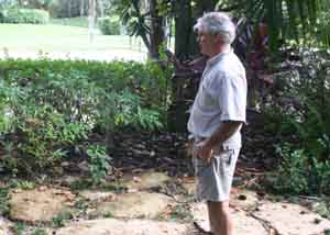 Orlando landscape estimator reviewing a landscape remodel project for estimating